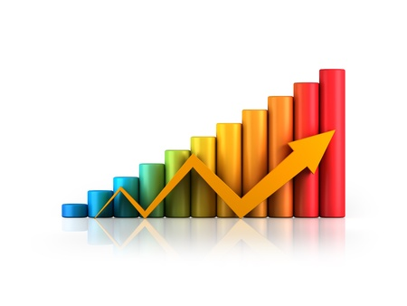 Business graph with arrow Stock Photo - 10098183