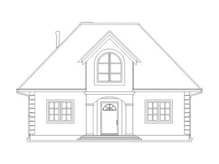 Haus zeichnung  Haus Zeichnung Lizenzfreie Vektorgrafiken Kaufen: 123RF