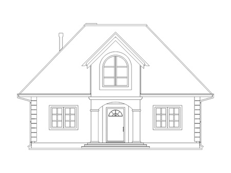 house drawing: House technical draw Stock Photo