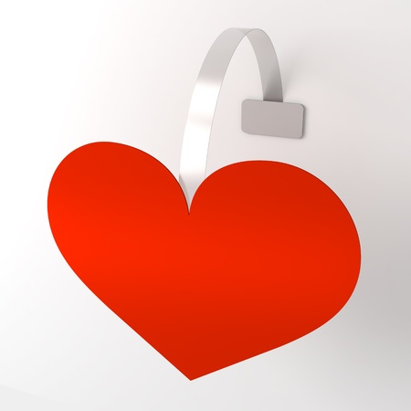 wobbler: Wobbler red heart Stock Photo