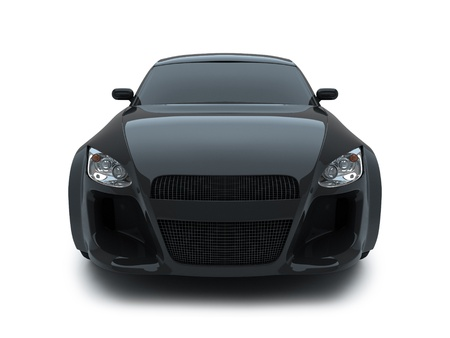 headlights: 3d render sport car