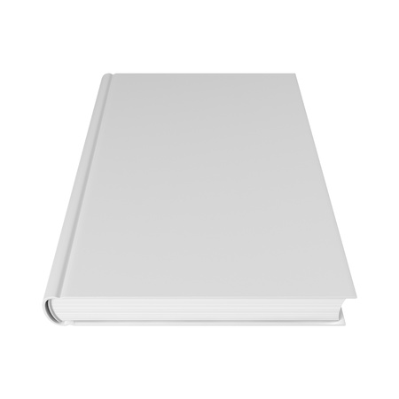 blank book cover: White blank book isolated on white Stock Photo