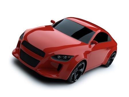 shiny car: 3d render sport auto Stockfoto