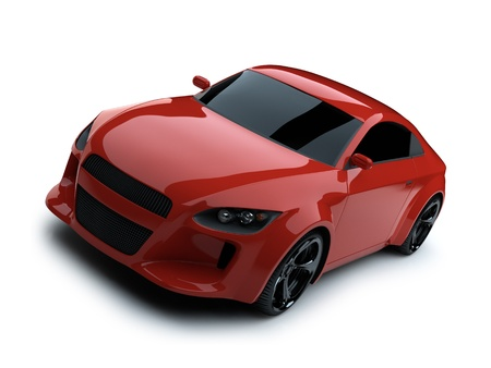 new motor car: 3d render sport car