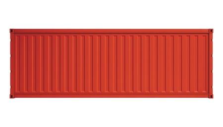 freight container: Contenedor rojo aislado en blanco Foto de archivo