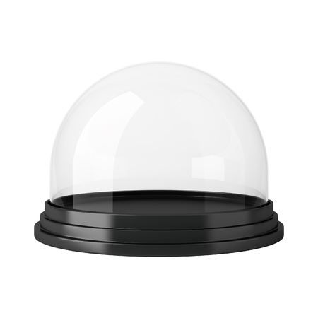 glass globe: Empty dome isolated on white