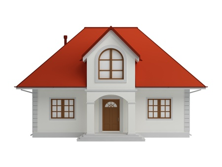 bungalow: 3d house isolated on white