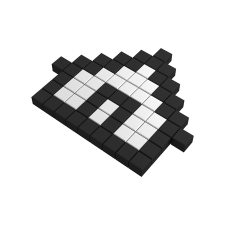 3d home pixel icon photo