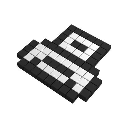 3d print pixel icon photo