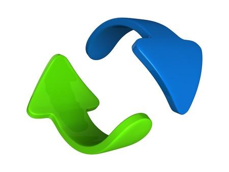 diminishing point: Two arrows twist