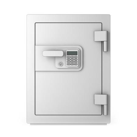 num�rico: Seguro, aislado sobre fondo blanco con teclado num�rico Foto de archivo