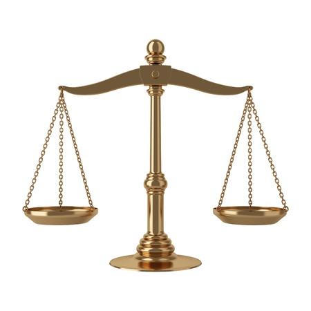 balanza en equilibrio: Escalas de oro Foto de archivo