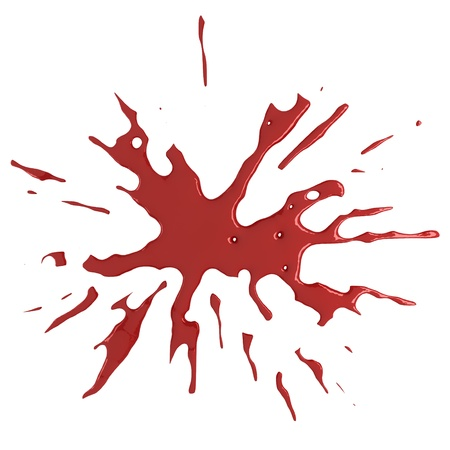 Red blood splat photo