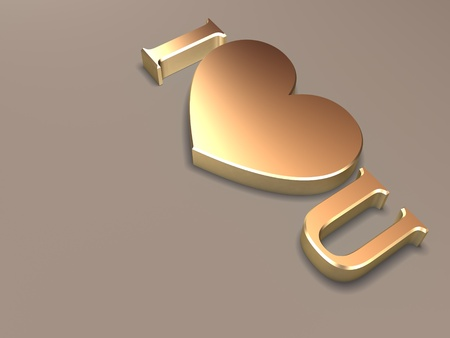 3d i love you text message Stock Photo - 10130199