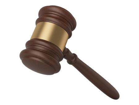 Judge gavel isolated on white photo