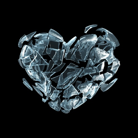 Broken ice heart photo
