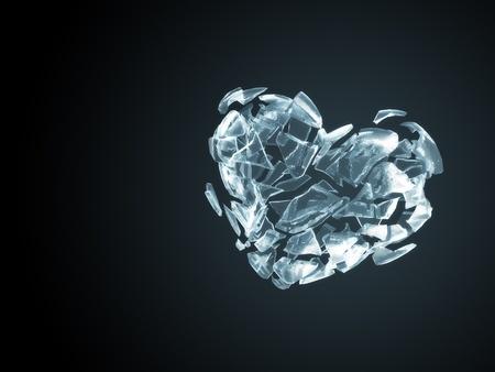 corazon roto: Coraz�n de hielo roto