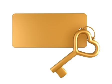 keychain: Keychain with gold key