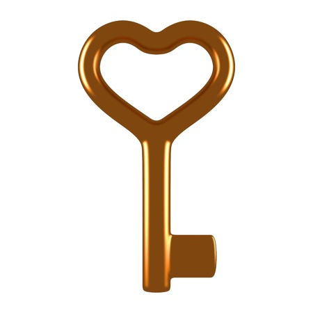 shiny hearts: Gold heart key