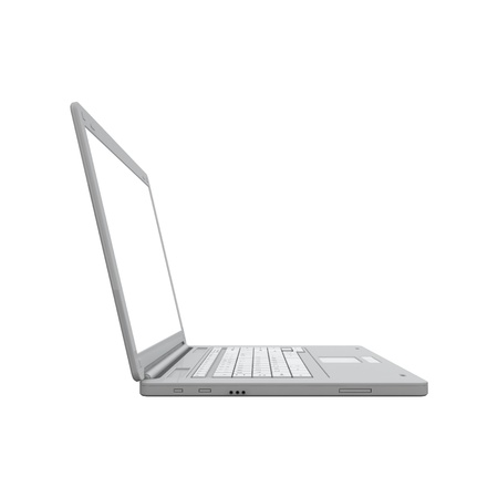 open notebook: Laptop isolated on white