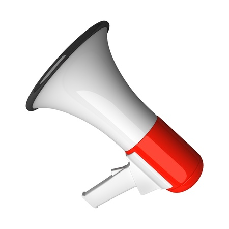 announcement icon: Megaphone isolated on white