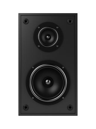 thundering: Speakers isolated on white