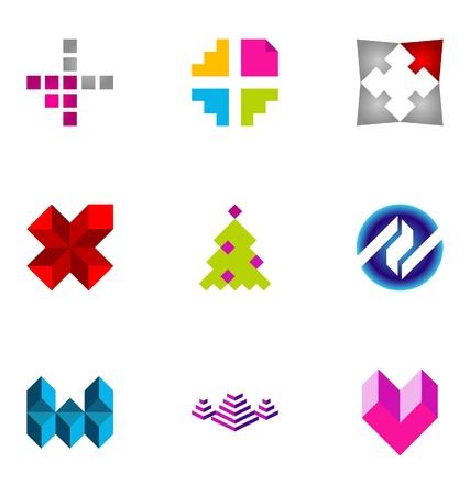 brand name: Logo design elements set 76