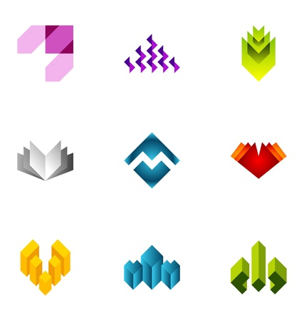Logo design elements set 75 Stock Vector - 10130258