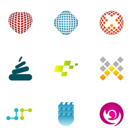 Logo design elements set 74 Stock Vector - 10130281