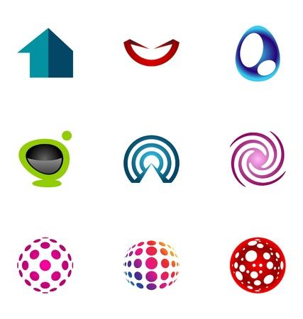 communication logo: Logo design elements set 72 Illustration