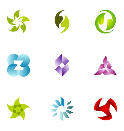 logo element: Logo design elements set 71
