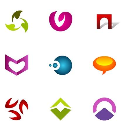 Logo design elements set 70 Stock Vector - 10130249