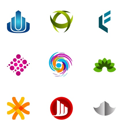 abstract logo: Logo design elements set 69 Illustration