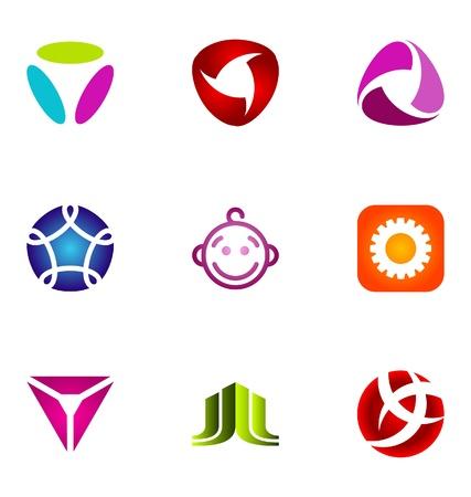 merken: Logo ontwerp elementen te stellen 68 Stock Illustratie