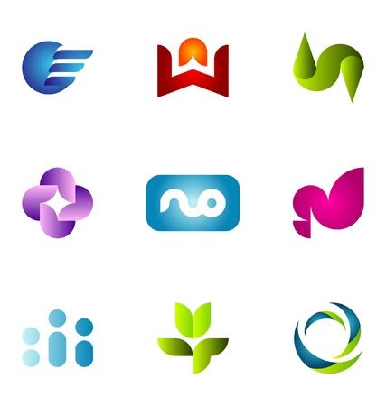 logo circle: Logo design elements set 64