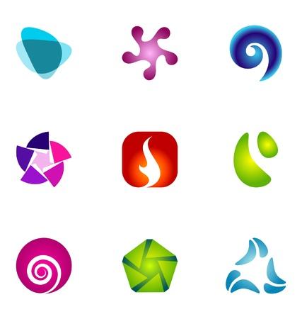 Éléments de conception de logo mis 62