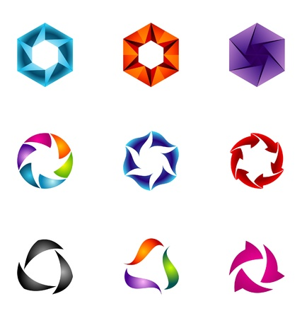 Logo design elements set 61 Vector