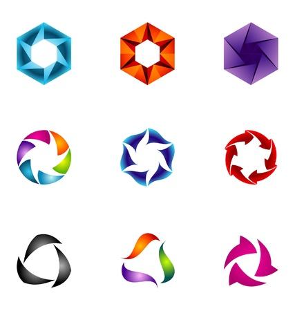 logotype: Logo design elements set 61
