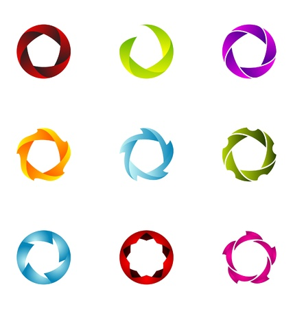 Logo design elements set 60 Vector