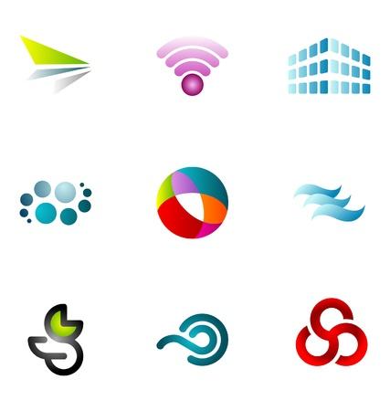 logos negocios: Elementos de dise�o de logotipo conjunto de 59