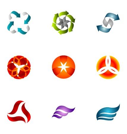 tech logo: Logo design elements set 58
