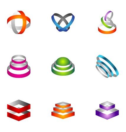 logo circle: Logo design elements set 55 Illustration