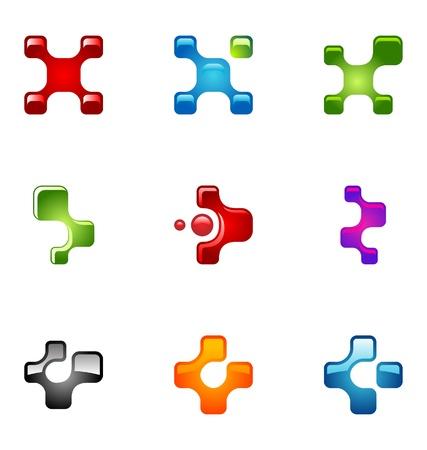 logotipo abstracto: Conjunto de elementos de dise�o de logotipo 54