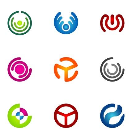 logotype: Logo design elements set 53