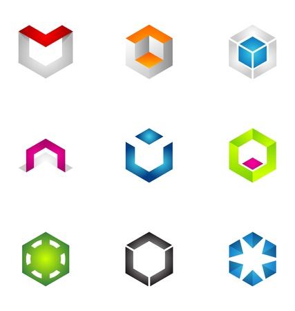 logo element: Logo design elements set 51 Illustration