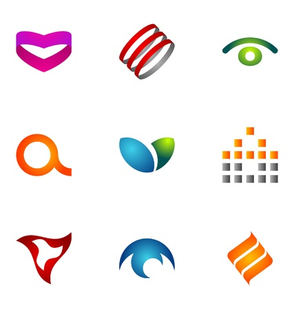 logotype: Logo design elements set 50