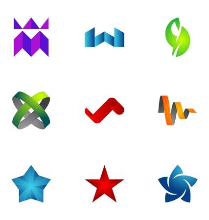 merken: Logo ontwerp elementen te stellen 49 Stock Illustratie