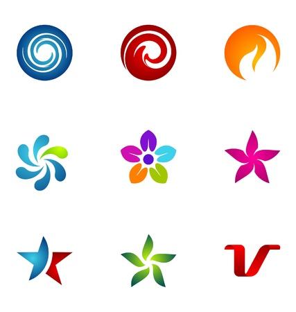 logos empresas: Conjunto de elementos de dise�o de logotipo 48 Vectores