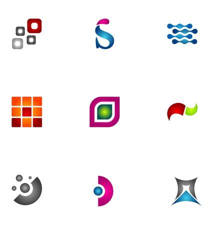 merken: Logo ontwerp elementen set 47