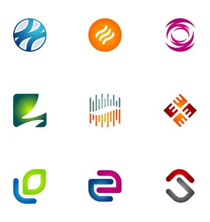 loghi aziendali: Elementi di design del logo set 46 Vettoriali